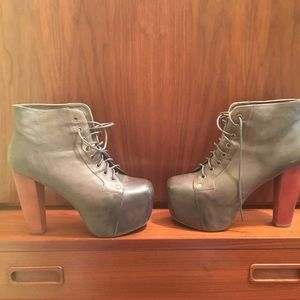 grey distressed Jeffrey Campbell Lita boot